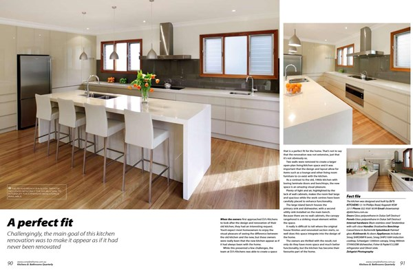 Kitchens & Bathrooms Quarterly - A perfect fit