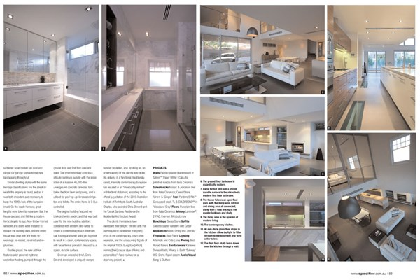 Specifier Architectural Review Chris Diamond Architect